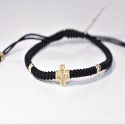 Златен кръст с бели циркони