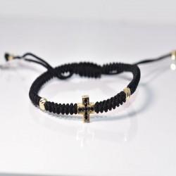Златен кръст с черни циркони 2